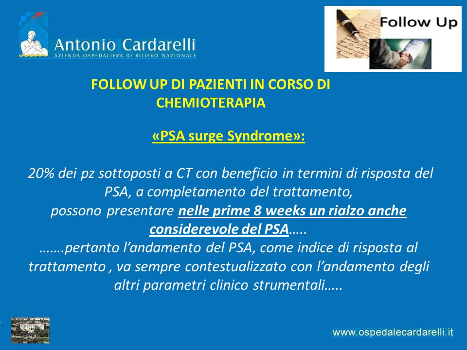 FOLLOW UP DI PAZIENTI IN CORSO DI CHEMIOTERAPIA