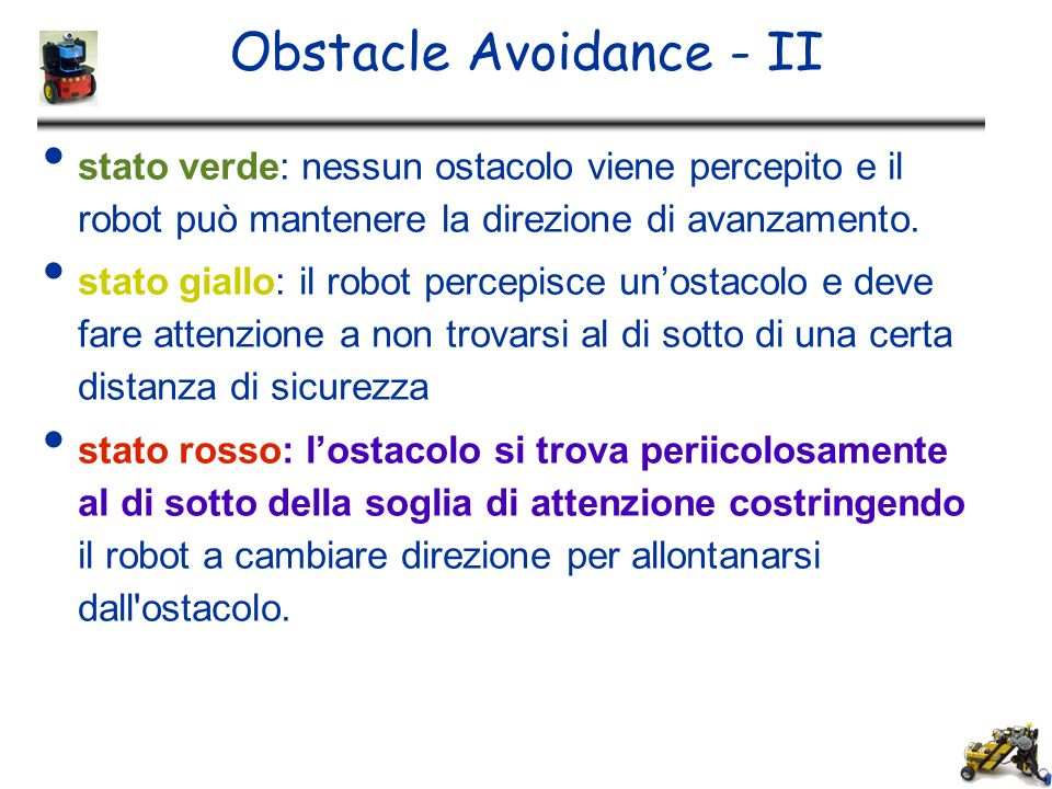 Obstacle Avoidance - II