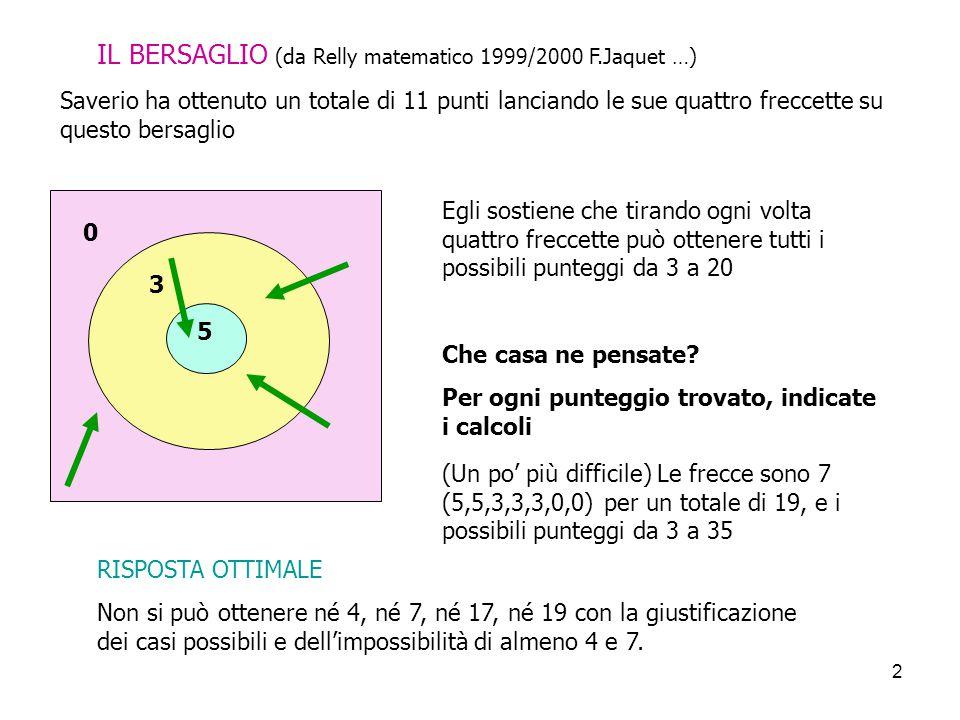 IL BERSAGLIO (da Relly matematico 1999/2000 F.Jaquet …)