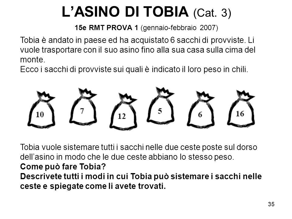 L'ASINO DI TOBIA (Cat. 3) 15e RMT PROVA 1 (gennaio-febbraio 2007)