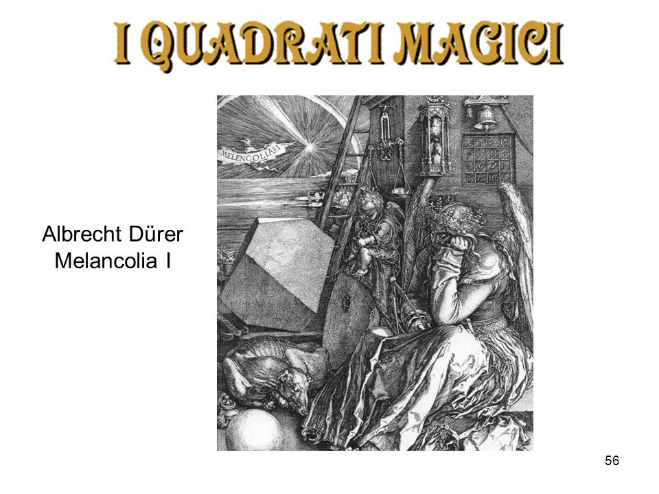 Albrecht Dürer Melancolia I