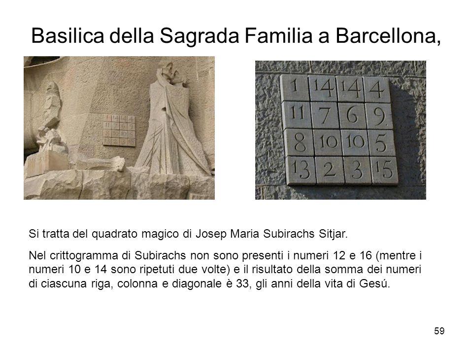 Basilica della Sagrada Familia a Barcellona,