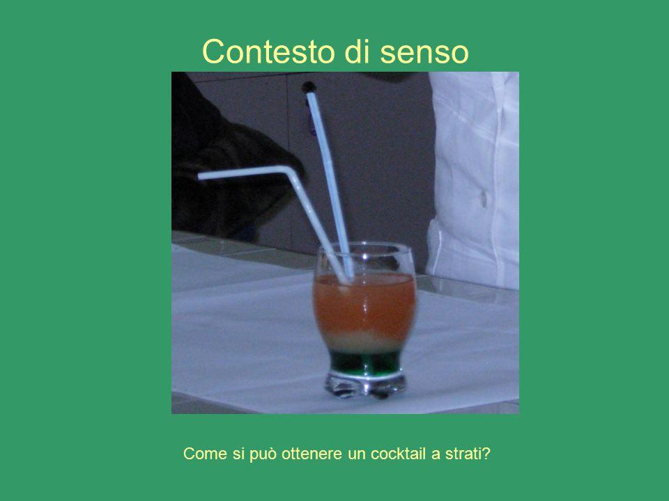 Contesto di senso Come si può ottenere un cocktail a strati
