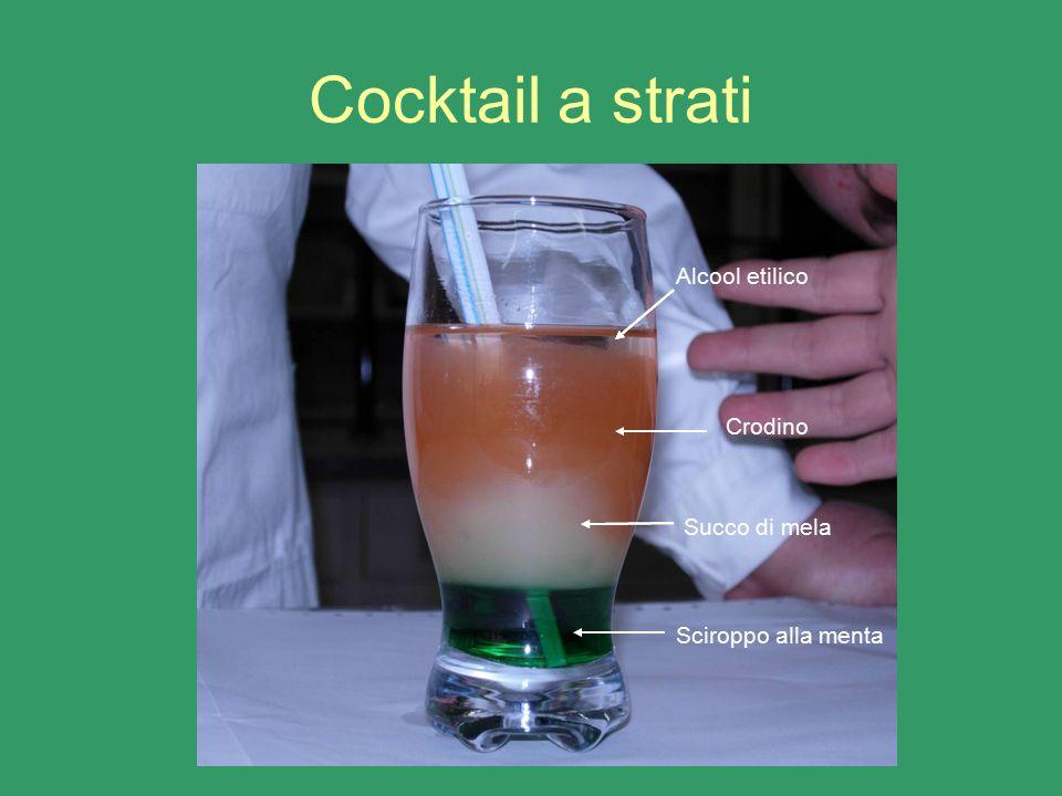 Cocktail a strati Alcool etilico Crodino Succo di mela