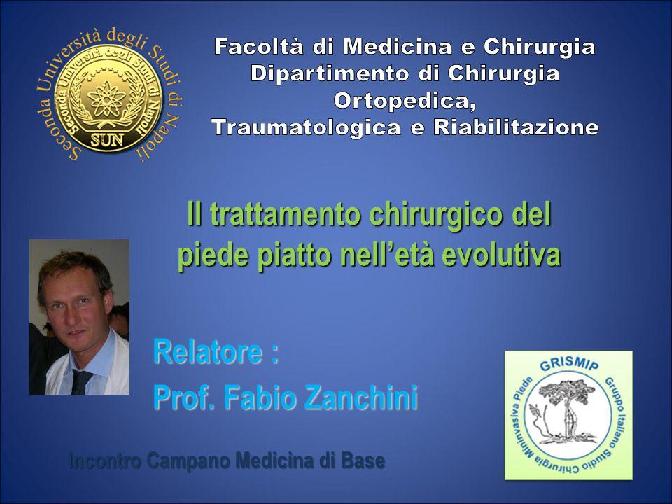 Il trattamento chirurgico del piede piatto nell'età evolutiva