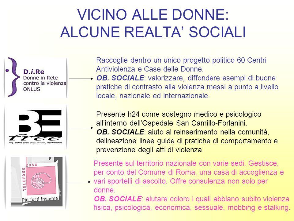 VICINO ALLE DONNE: ALCUNE REALTA' SOCIALI