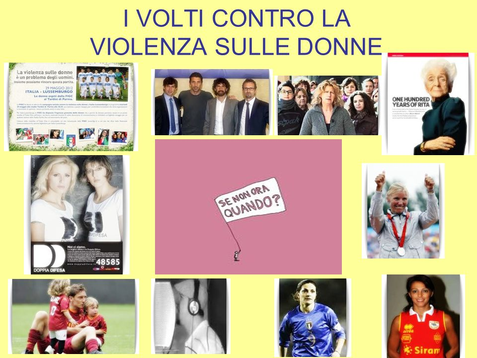 I VOLTI CONTRO LA VIOLENZA SULLE DONNE