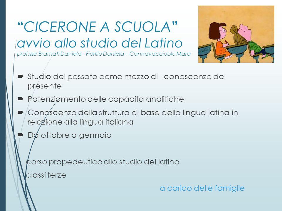 CICERONE A SCUOLA avvio allo studio del Latino prof