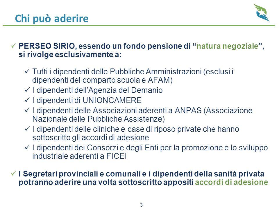 Chi può aderire PERSEO SIRIO, essendo un fondo pensione di natura negoziale , si rivolge esclusivamente a: