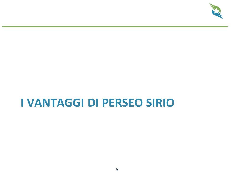 I VANTAGGI DI PERSEO SIRIO