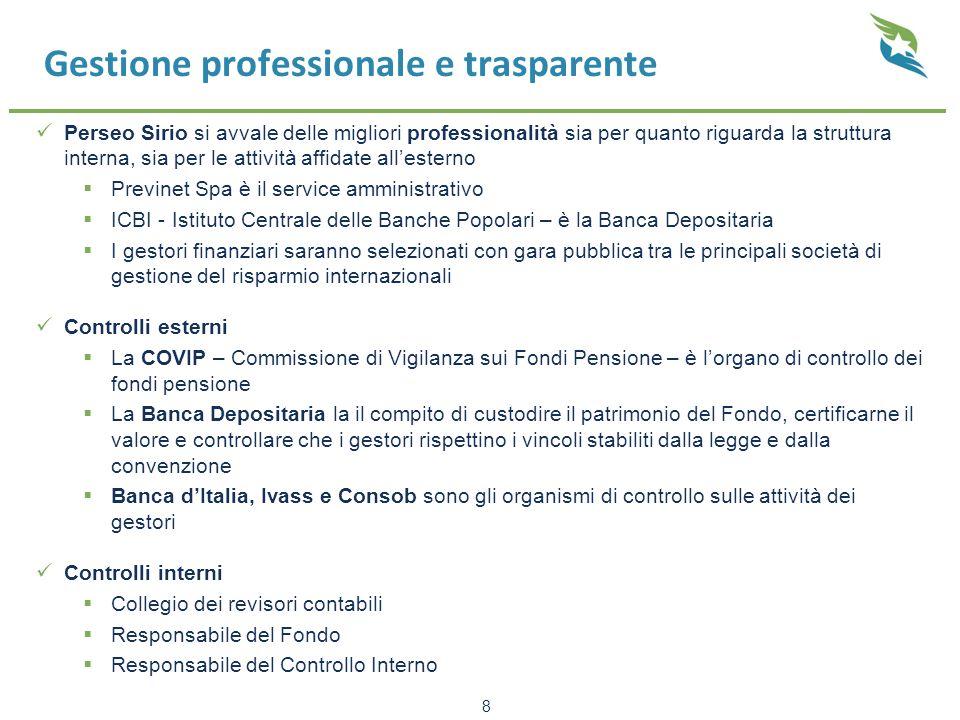 Gestione professionale e trasparente