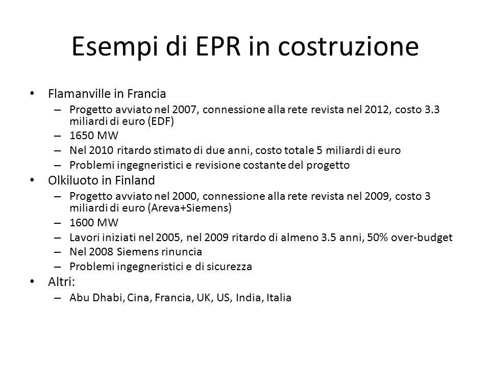 Esempi di EPR in costruzione