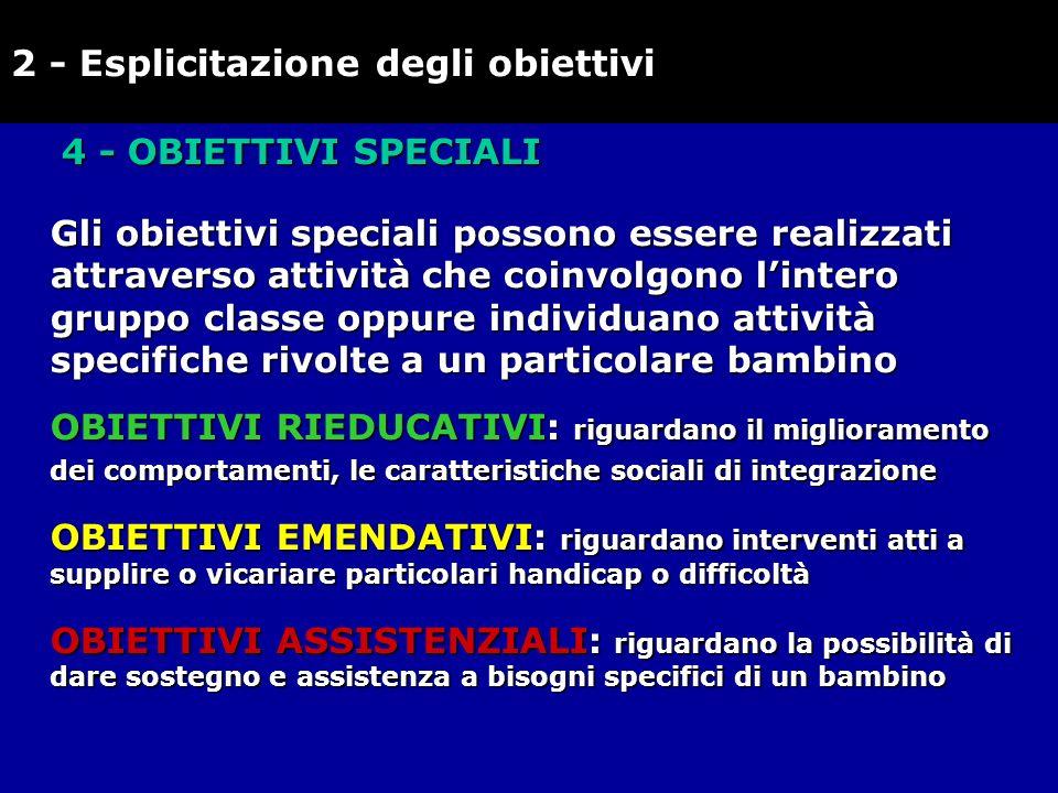 2 - Esplicitazione degli obiettivi