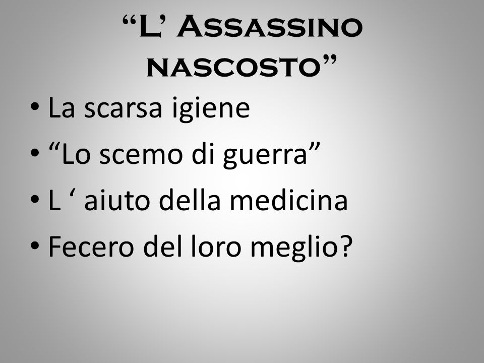 L' Assassino nascosto