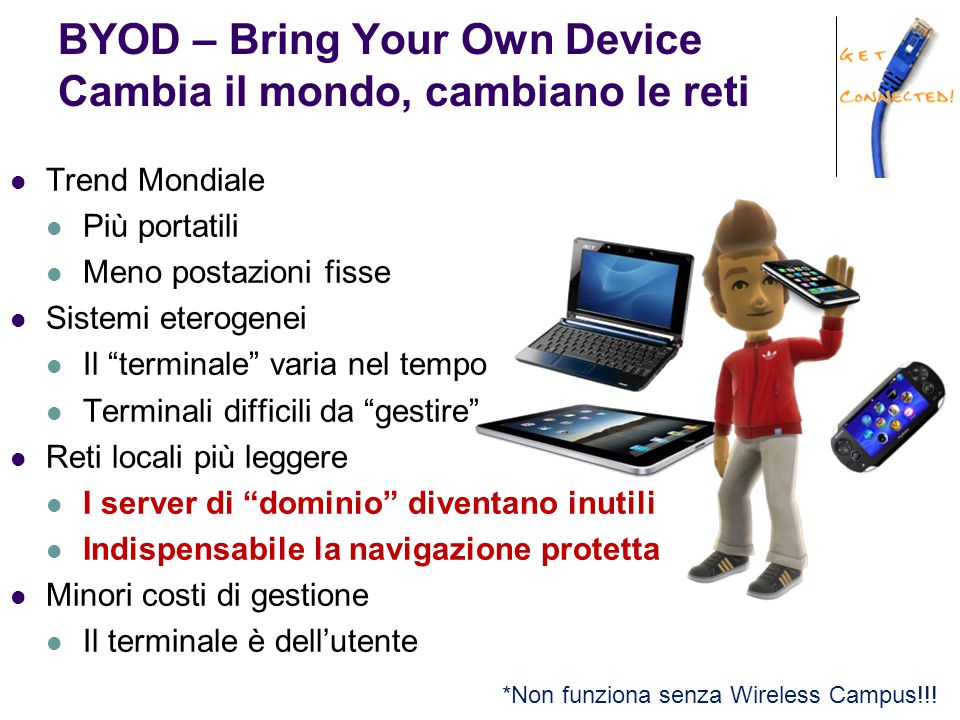 BYOD – Bring Your Own Device Cambia il mondo, cambiano le reti