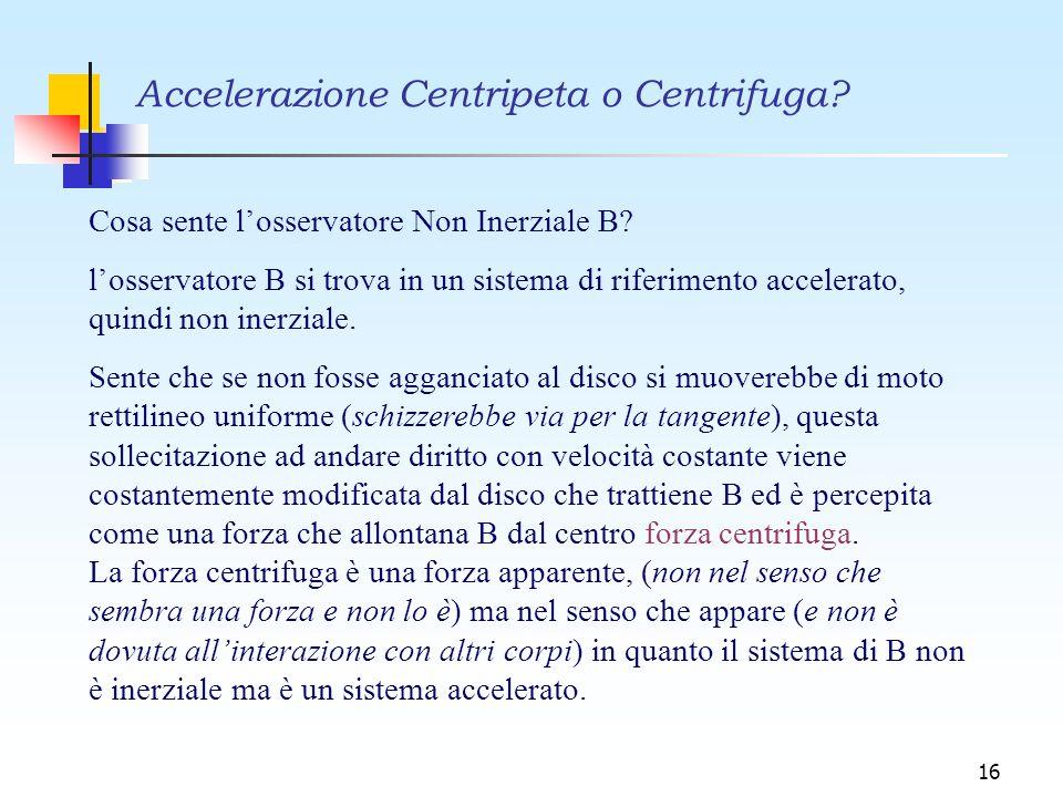Accelerazione Centripeta o Centrifuga