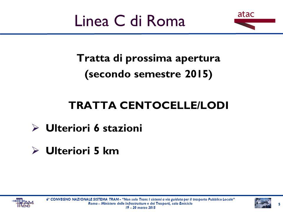Linea C di Roma Tratta di prossima apertura (secondo semestre 2015)