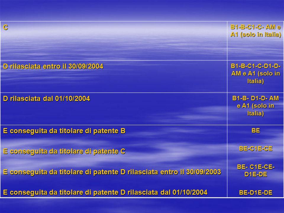 D rilasciata entro il 30/09/2004