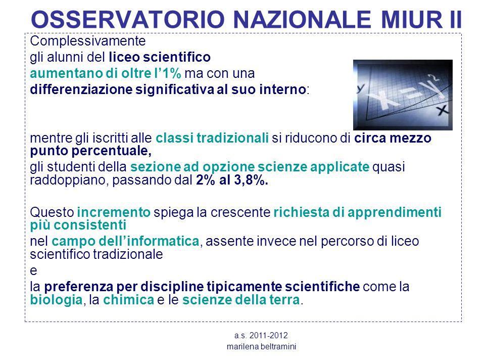 OSSERVATORIO NAZIONALE MIUR II