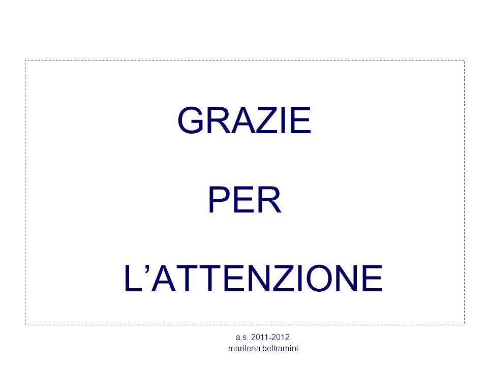 GRAZIE PER L'ATTENZIONE a.s. 2011-2012 marilena beltramini
