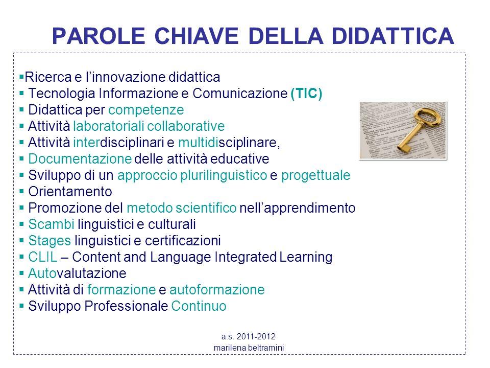 PAROLE CHIAVE DELLA DIDATTICA