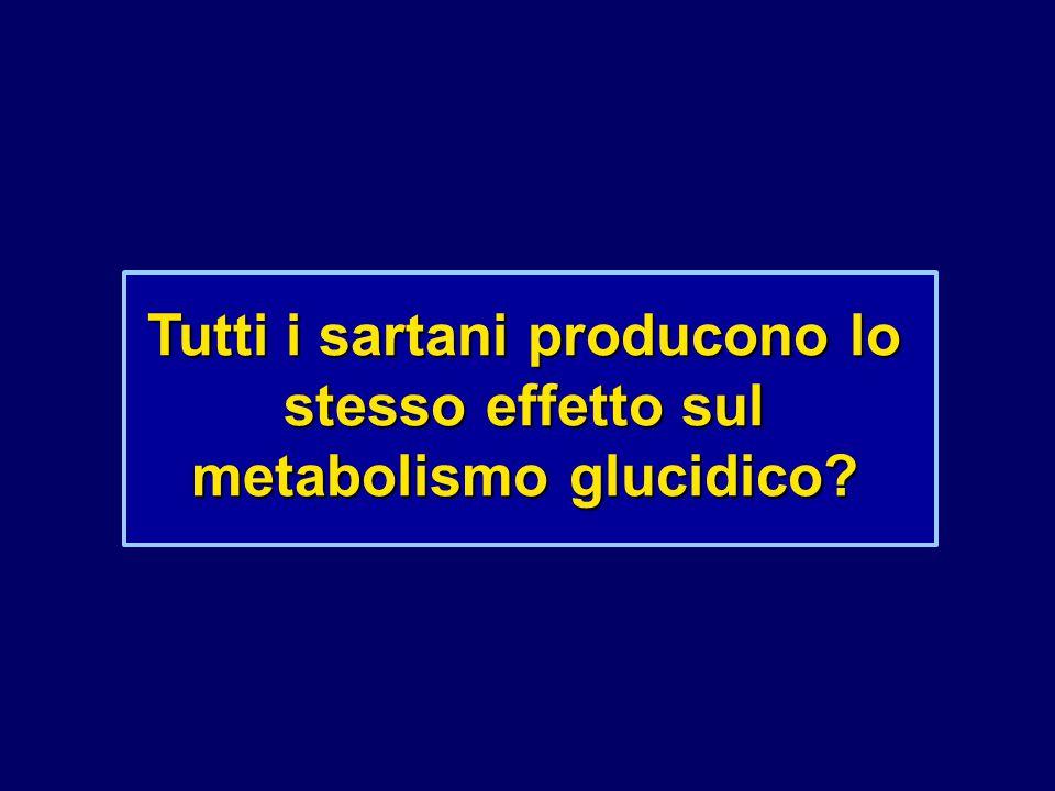 Tutti i sartani producono lo stesso effetto sul metabolismo glucidico