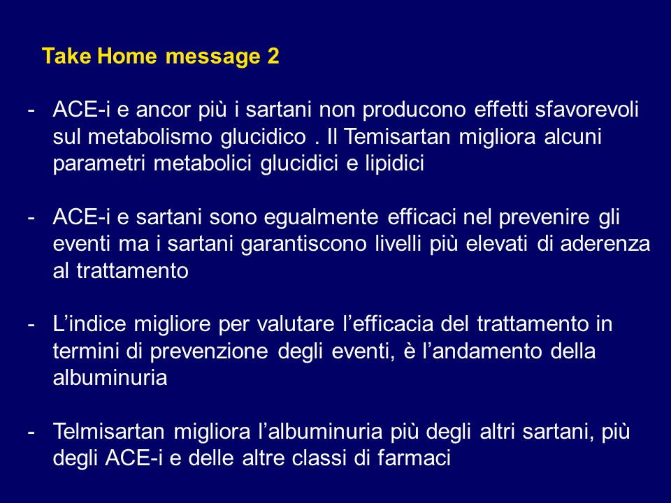 Take Home message 2