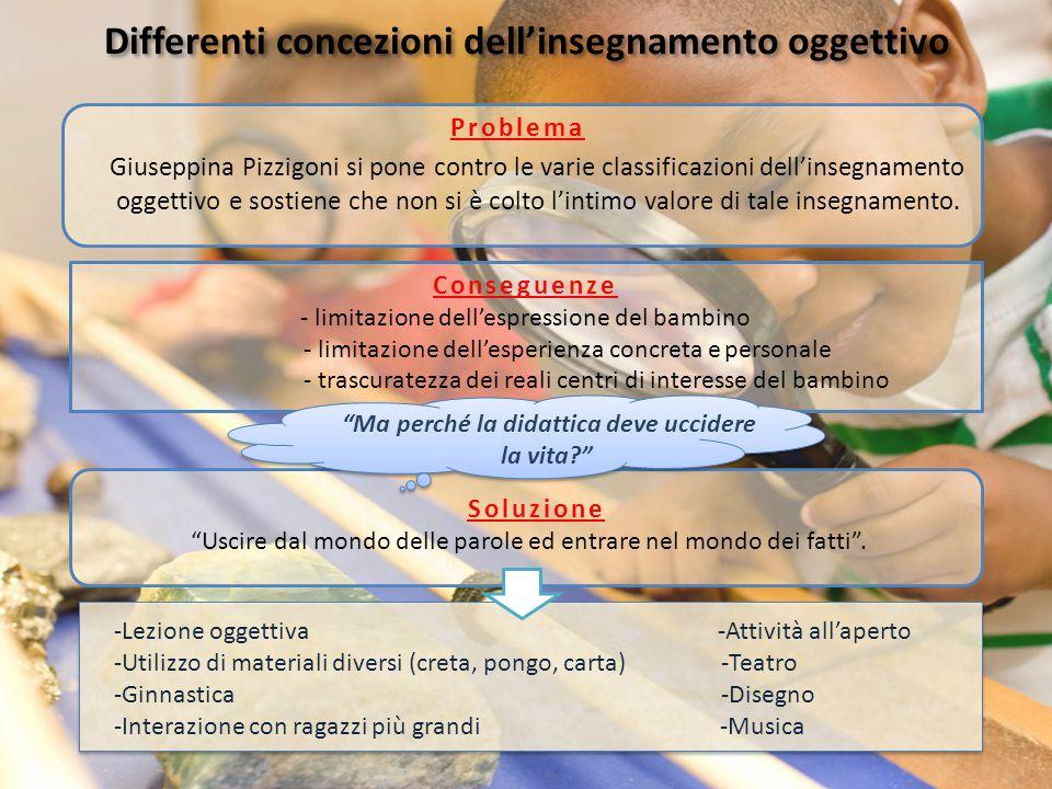 Differenti concezioni dell'insegnamento oggettivo