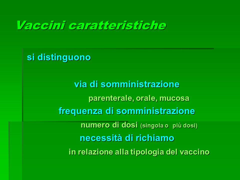 Vaccini caratteristiche