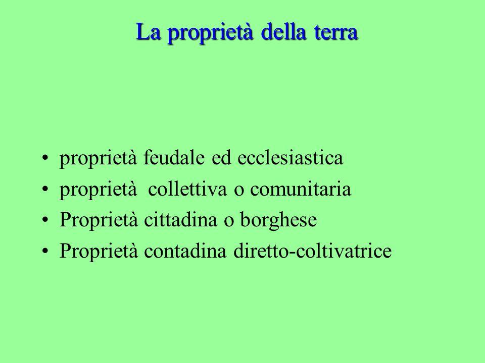 La proprietà della terra