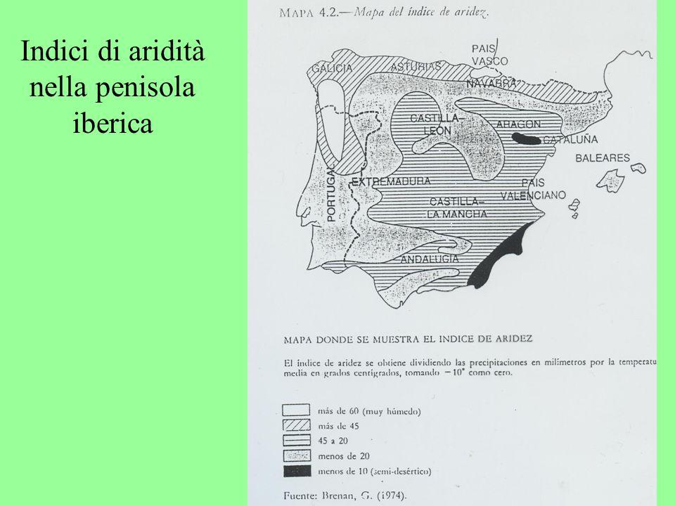 Indici di aridità nella penisola iberica