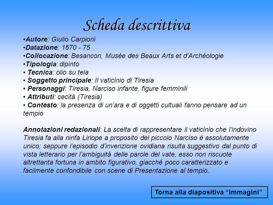 Scheda descrittiva Autore: Giulio Carpioni Datazione: 1670 - 75