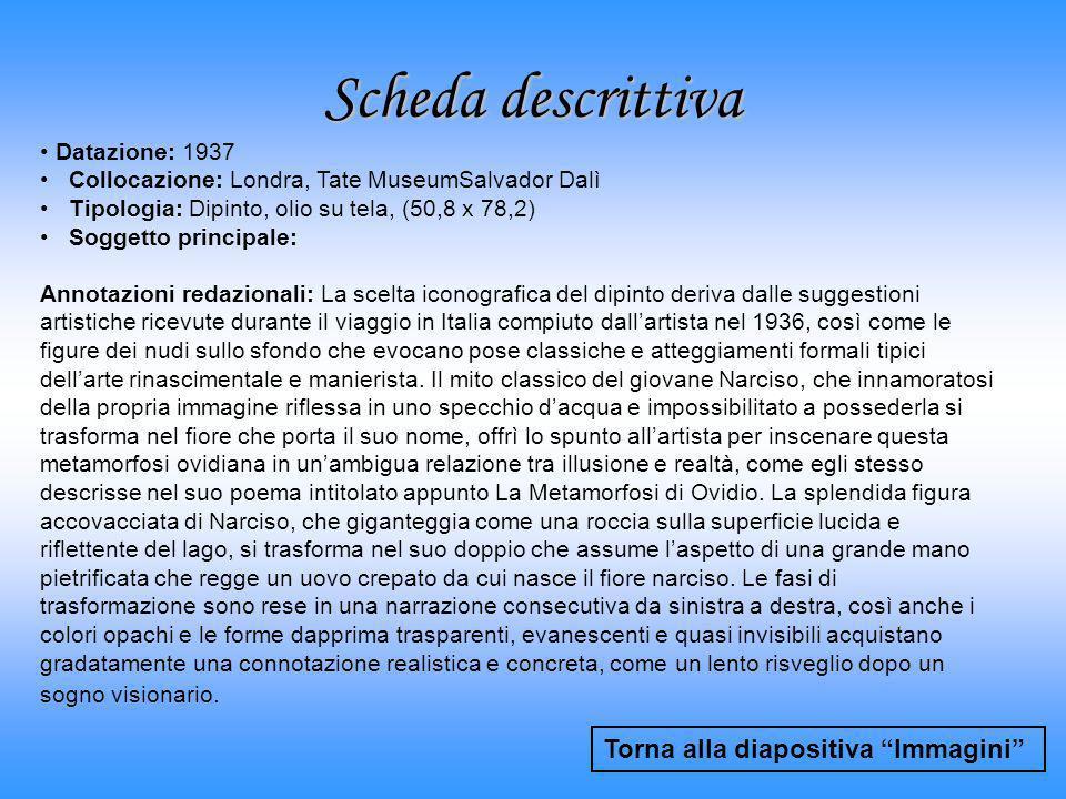 Scheda descrittiva Torna alla diapositiva Immagini Datazione: 1937