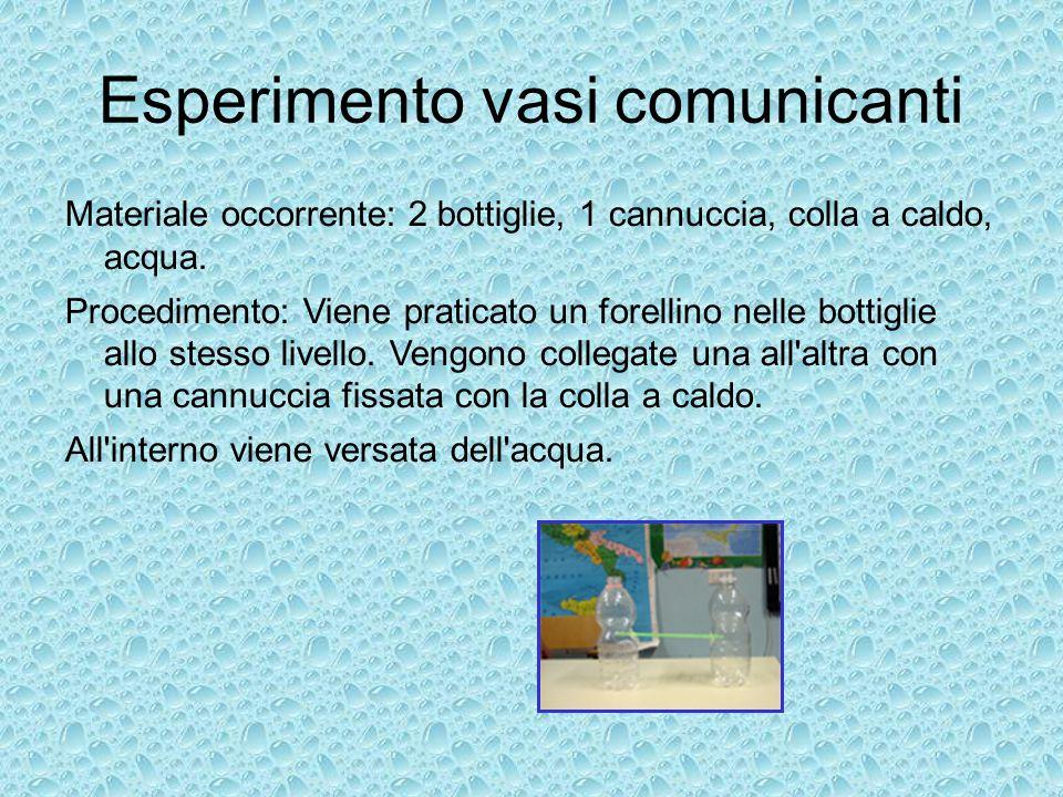 Esperimento vasi comunicanti
