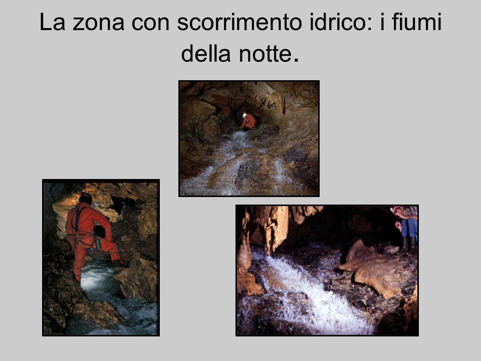 La zona con scorrimento idrico: i fiumi della notte.