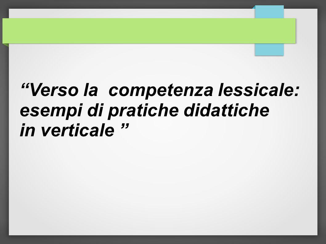Verso la competenza lessicale:
