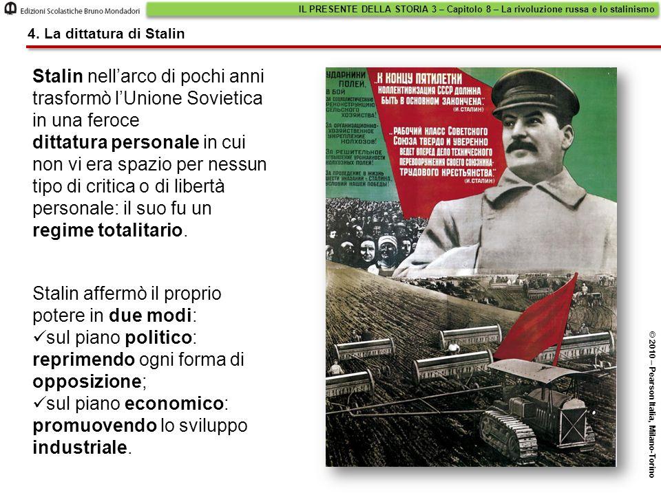 Stalin affermò il proprio potere in due modi: