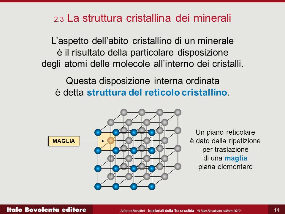 2.3 La struttura cristallina dei minerali