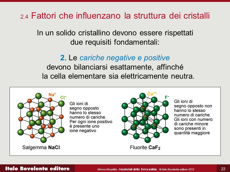 2.4 Fattori che influenzano la struttura dei cristalli