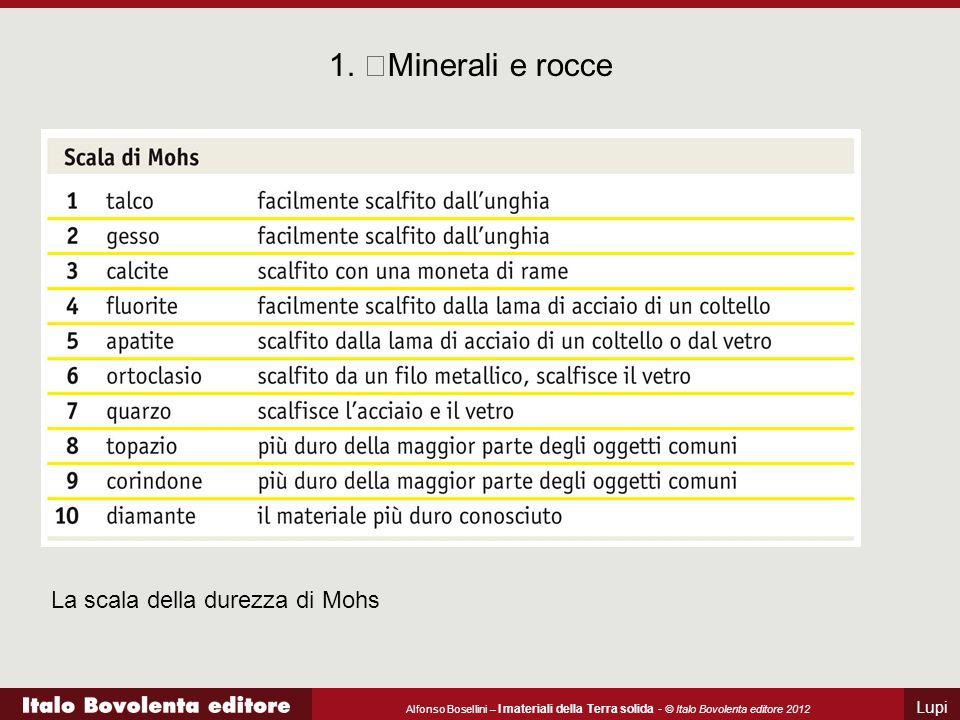 1. Minerali e rocce La scala della durezza di Mohs