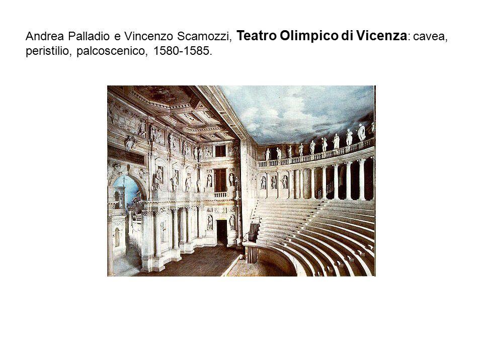 Andrea Palladio e Vincenzo Scamozzi, Teatro Olimpico di Vicenza: cavea, peristilio, palcoscenico, 1580-1585.