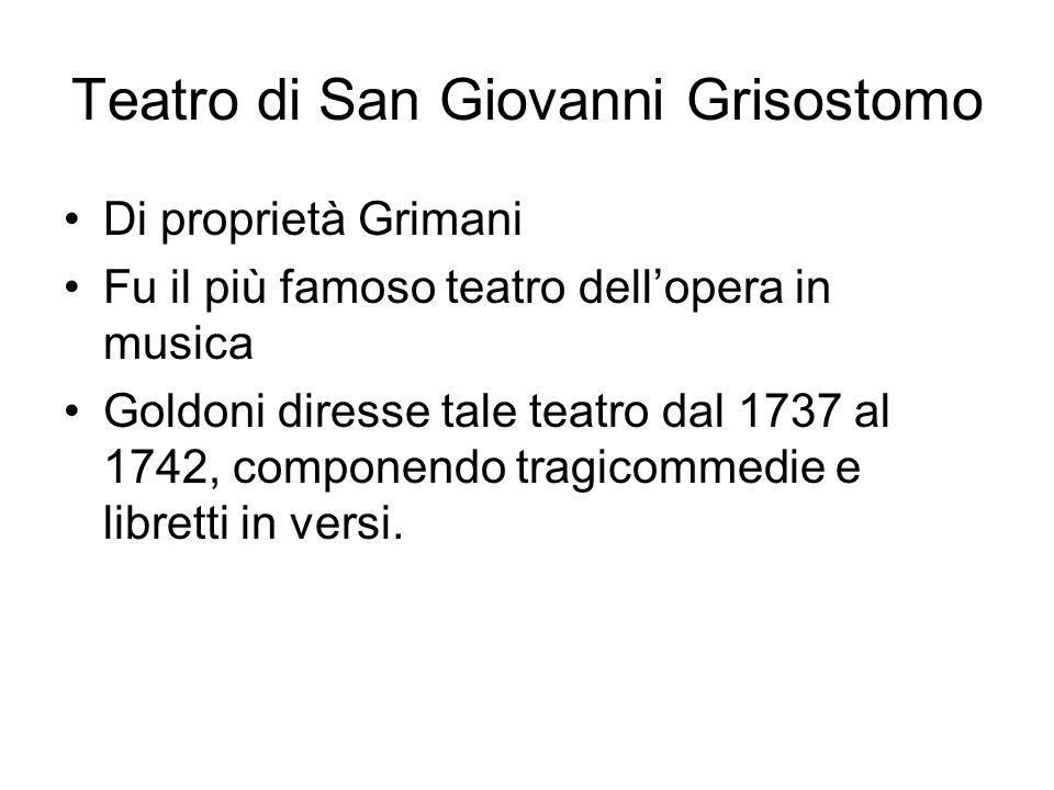 Teatro di San Giovanni Grisostomo
