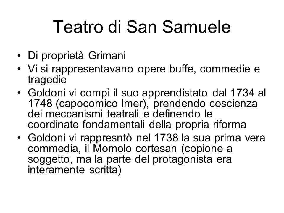 Teatro di San Samuele Di proprietà Grimani