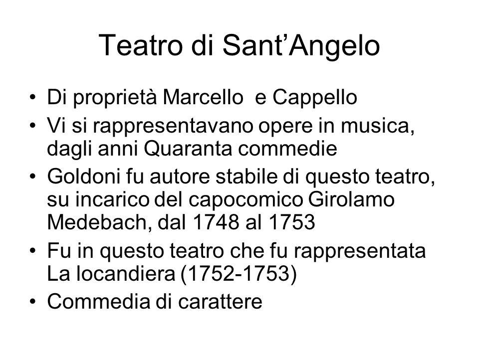 Teatro di Sant'Angelo Di proprietà Marcello e Cappello