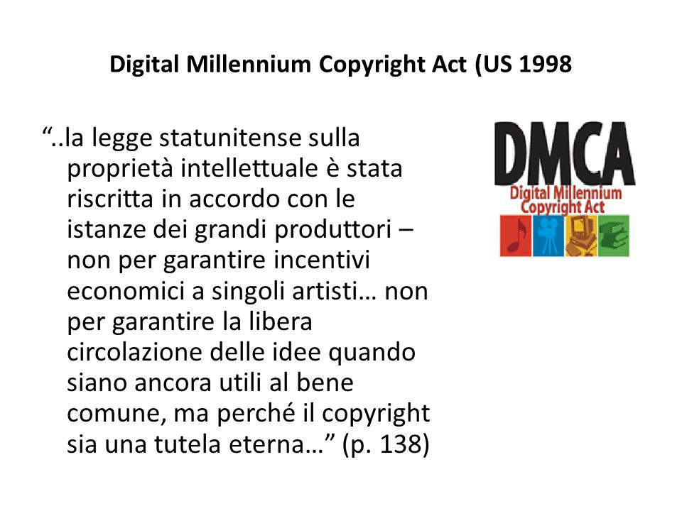 Digital Millennium Copyright Act (US 1998