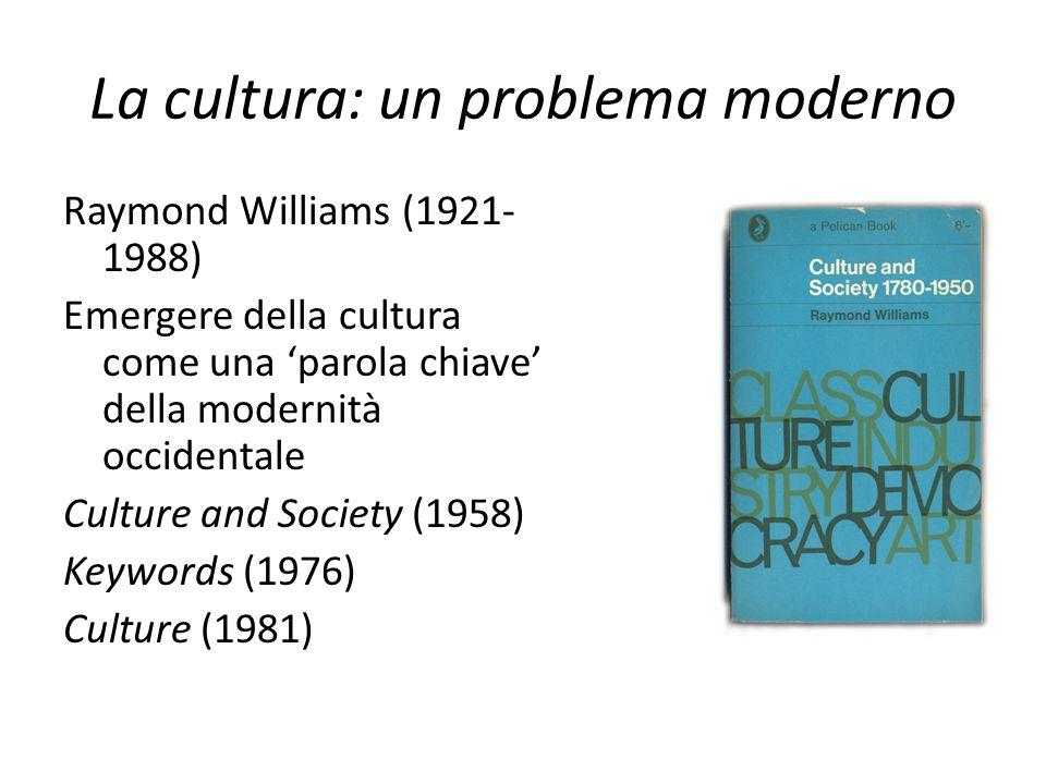 La cultura: un problema moderno