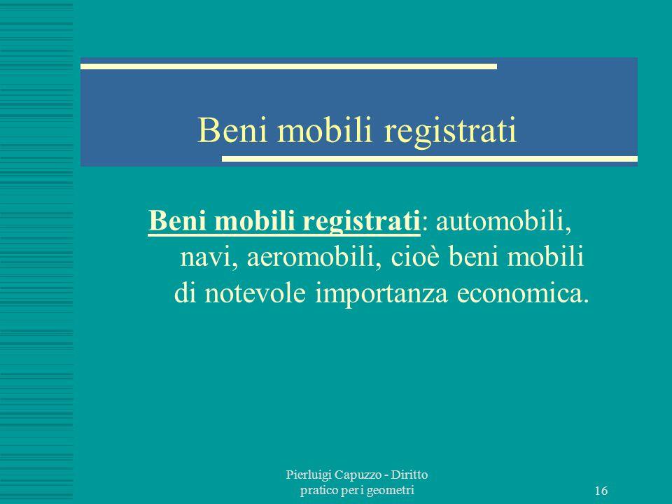 Beni mobili registrati