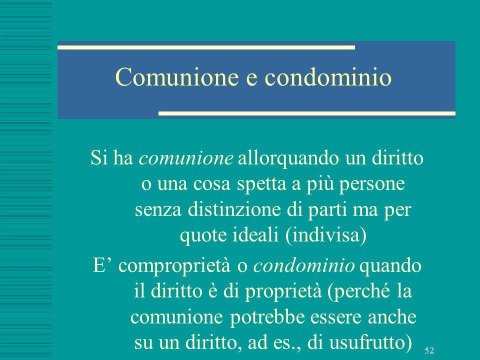 Comunione e condominio