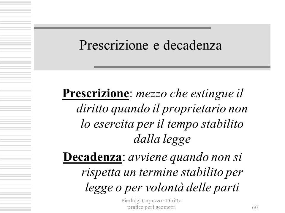 Prescrizione e decadenza