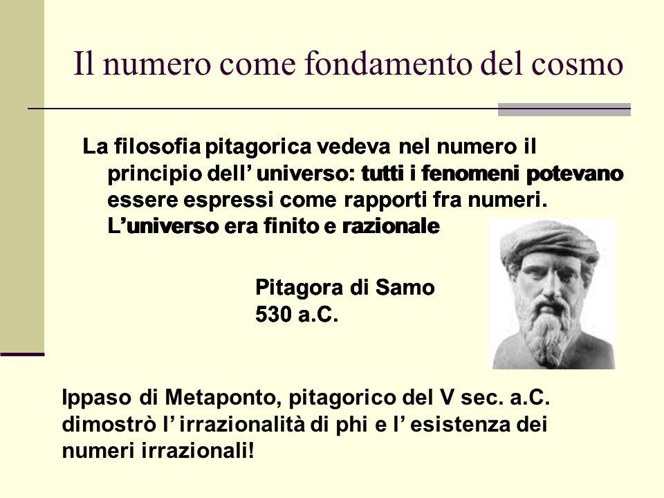 Il numero come fondamento del cosmo